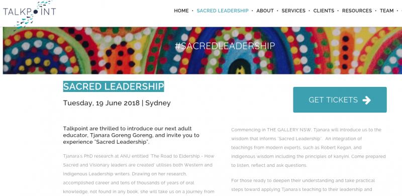 SACRED LEADERSHIP