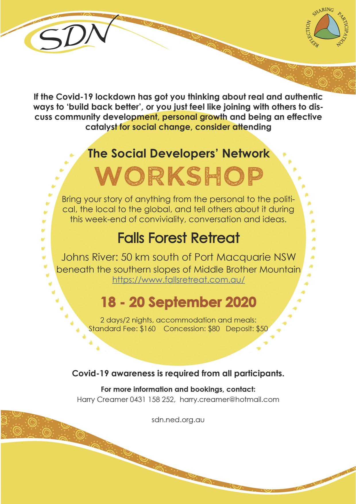 Falls Retreat Workshop Flyer